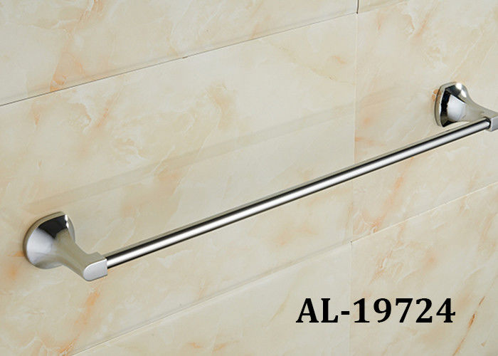 Durable Bathroom Decorative Accessories Single Towel Bar Corrosion Resistance